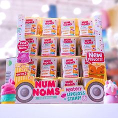 #NumNoms Series 1 are so excited to meet the Num Noms hiding in Series 2 Mystery Packs! Have you seen the 2nd video from @dctc_channel? She unboxes Series 2 Mystery Packs! ❤️ Link in bio. #smellsodelicious #collection #collectibles #kawaiitoys #kawaii #toys #toy