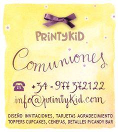 Diseños de gráfica para comuniones personalizadas. Solicita información al +34 977 37 21 22 o a info@printykid.com. Envíos a cualquier para del mundo. Idiomas: castellano, catalán, inglés, francés, italiano, chino, ruso.