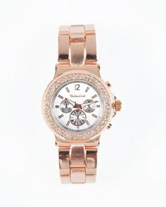 I WANT THIS.....The Rose Pave Watch by JewelMint.com