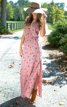 Darling Leaf Floral Maxi Dress