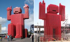 Porky Hefer is best known for an alternative, re-imagined advertising project for Coca-cola which used abandoned Coke crates stacked together to create lego like beverage giants.