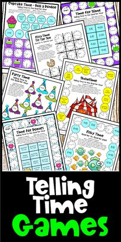 These telling time games will help your kiddos become masters of telling time. These are fun telling time activities that are perfect for the classroom or distance education. Let them play games and learn to tell the time at the same time! Telling Time Games, Telling Time Activities, Hands On Activities, Third Grade Math Games, Second Grade, Teaching Style, Teaching Ideas, Game 4, Student Reading