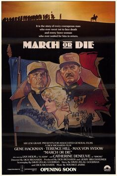 1977 movie poster | march or die 1977 item gd6864 1 your selected format size product type ...