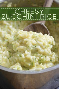 Cheesy Zucchini Rice - sneak in some veggies with this simple recipe!