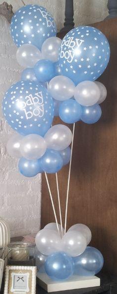 Mooie ballon standaard voor geboorte jongetje