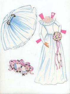 paper doll wedding dress