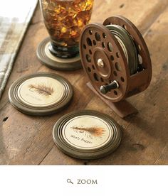 fly fishing coaster set. so clever! saw these at conclave a year or so ago