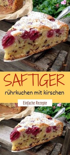 Saftiger rührkuchen mit kirschen Ingredients: 150 g sugar 1 sachet of vanilla sugar 1 pinch of salt 3 eggs 250 ml of oil 200 g of bread 250 g of flour bag of baking powder, sifted 50 g of grated chocolate Heart Healthy Desserts, Healthy Snacks To Buy, Healthy Dessert Recipes, Easy Snacks, Snack Recipes, Easy Meals, Eating Healthy, Clean Eating, Easy Cheesecake Recipes