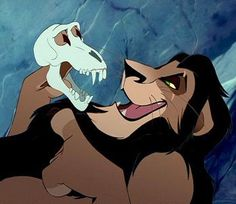 """Scar, """"Big ones, small ones, some as big as your head"""" The Lion King"""
