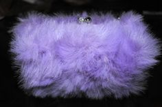 DIY Fur Purse - start with faux white fur and dye with RIT dye - cool!!!