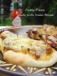 本格的ナンdeカレーピザ