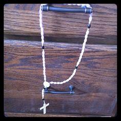 handmade beaded rosary purple beaded rosary Jewelry Necklaces