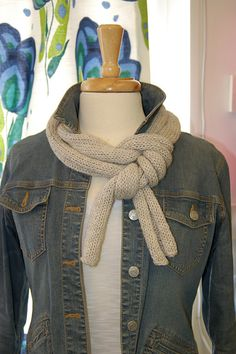 Simply Skinny scarf patter by Cheryl Erlandson