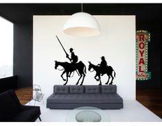 #Vinilo #Decorativo Don Quijote y Sancho Panza 01534
