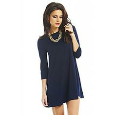 AX Paris- -Women's Plain Navy Swing Dress  - Online Exclusive  Ally likes this one for herself :)