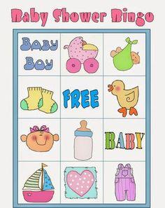 Diy Baby Shower Decorations, Bingo Baby Shower, Juegos Baby, Blogger Templates, Free Baby Stuff, Crepes, Ideas, Home, Free Printable