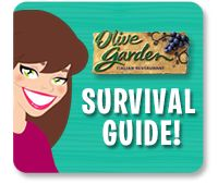 Your guide to navigating a meal at #OliveGarden! #HGSurvivalGuide