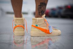 """On foot look at the """"All Hallows Eve"""" Off-White Blazer Which do you prefer, the. Off White Blazer, Off White Shoes, Cute Sporty Outfits, Nike Air Max 2, Baskets, Nike Shoes, Sneakers Nike, Mens Fashion Shoes, Air Jordan Shoes"""