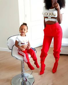 7c1c316b619 Mother Daughter Matching Outfits, Mommy And Me Outfits, To My Daughter,  Kids Outfits, Cute Family, Baby Family, Family Goals, Family Wishes, Kid  Swag
