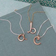Personalized 14k Rose Gold Filled Initial Pendant. $55.00, via Etsy.