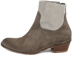 ZADIG & VOLTAIRE TEDDY CANVAS+SUEDE ANKLE BOOTS~