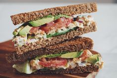 chickpea tuna sandwich #vegan | RECIPE on hotforfoodblog.com