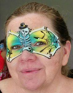 Halloween Face Paint Scary, Halloween Art, Halloween Makeup, Balloon Painting, Body Painting, Tinta Facial, Creepy Faces, Make Up Art, Face Painting Designs