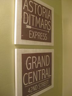 DIY distressed signs