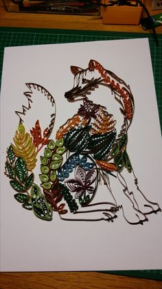 Quilling - Fox Template in smaller size bought in China
