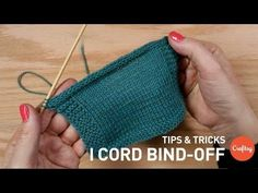 I-cord Bind Off Instructions & Tutorial: Step-by-Step