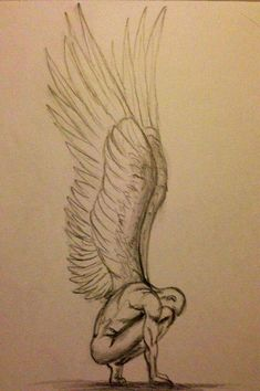 Angel sketch: not my drawing don't know who did it but it's wonderful! Pencil Sketch Drawing, Pencil Art Drawings, Doodle Drawings, Art Drawings Sketches, Easy Drawings, Disney Drawings, Broken Drawings, Demon Drawings, Drawings Of Angels