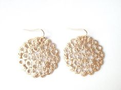 Celeste Gold Matte Abstract Circle Earrings