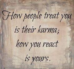 Don't react