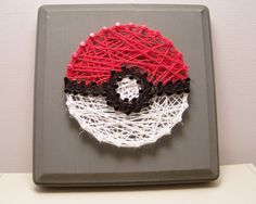Hey, I found this really awesome Etsy listing at https://www.etsy.com/listing/247730496/pokeball-inspired-string-art-pokemon