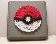 Hey, I found this really awesome Etsy listing at https://www.etsy.com/listing/247730496/pokeball-inspired-string-art-pokemon