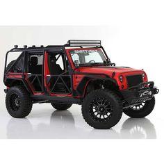 Smittybilt XRC Exoskeleton, Steel - Textured Black Orange Jeep Wrangler, Red Jeep, Wrangler Jeep, Jeep Jku, Jeep Parts, Cool Jeeps, Jeep Truck, Jeep Life, Concept Cars