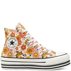 Unite Platform Chuck Taylor All Star High Top para mujer - Converse ES / PT Brown Converse, Converse Sneakers, Converse All Star, Funky Shoes, Cute Shoes, Me Too Shoes, High Top Boots, High Top Sneakers, Hurley