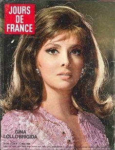 Gina Lollobrigida - Jours de France Magazine Cover [France] (4 May 1968)