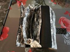 Compagnon Complice en noir et blanc fleuri cousu par Veronique - Patron Sacôtin