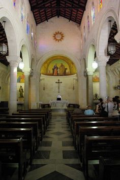 St Joseph's Church, in #Nazareth, occupies the site considered to be that of Joseph's carpentry shop. www.ffhl.org #Franciscan #HolyLand