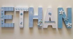 3D Personalised Name Signs - Baby Boy - 5 Letters | The Crafters' Barn