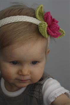 Knitted Baby Headbands   Baby Headband Pattern is Now Available