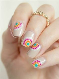Nail Nail: Super adorable DIY summer nails.