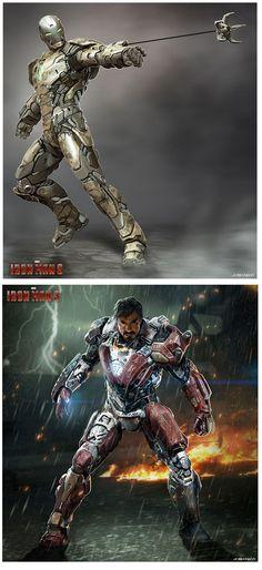 Artes do filme Iron Man 3, por Josh Nizzi | THECAB - The Concept Art Blog