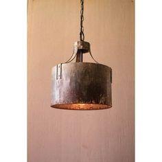 Metal Cylinder One Light Pendant Light Kalalou Drum Pendant Lighting Ceiling Lighting