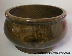 Walnut bowl w/ laq finish
