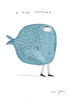 Marc Johns: a fish costume http://www.marcjohns.com/blog/2010/11/a-fish-costume.html