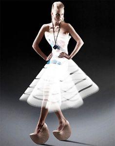 Light painting fashion dress
