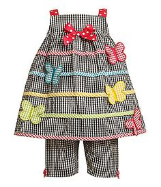 Bonnie Baby Infant ButterflyApplique Dress and Capri Pants Set #Dillards