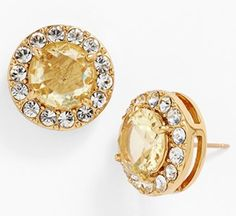 pretty Kate Spade pavé stud earrings http://rstyle.me/n/iwyxdr9te